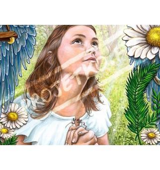 Jeanne d'Arc en prière -...