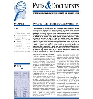 Faits & Documents no494 -...